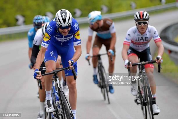 Pieter Serry of Belgium and Team Deceuninck QuickStep / Valerio Conti of Italy and UAE Team Emirates / during the 102nd Giro d'Italia 2019 Stage 6 a...