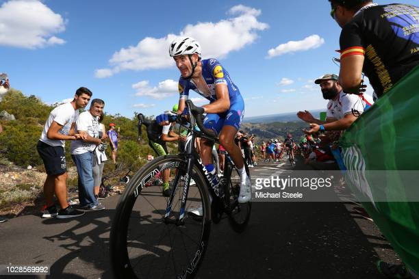 Pieter Serry of Belgium and Team QuickStep Floors / Alto de la Camperona / Fans / Public / during the 73rd Tour of Spain 2018 Stage 13 a 1748km stage...