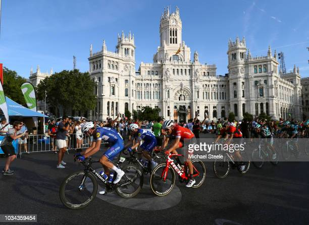 Pieter Serry of Belgium and Team Quick-Step Floors / Laurens De Plus of Belgium and Team Quick-Step Floors / Peloton / Madrid Town Hall / Plaza...