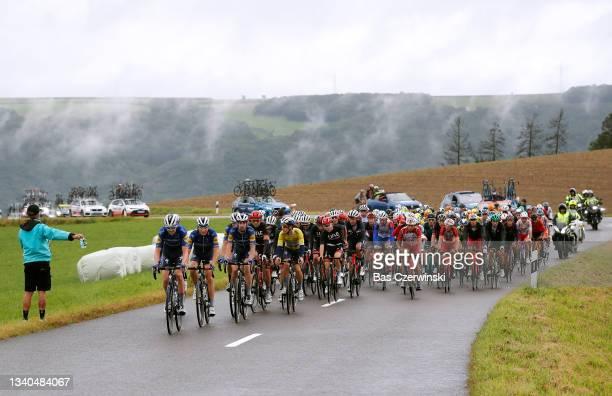 Pieter Serry of Belgium, Mauri Vansevenant of Belgium, Fausto Masnada of Italy, Mattia Cattaneo of Italy, João Almeida of Portugal and Team...