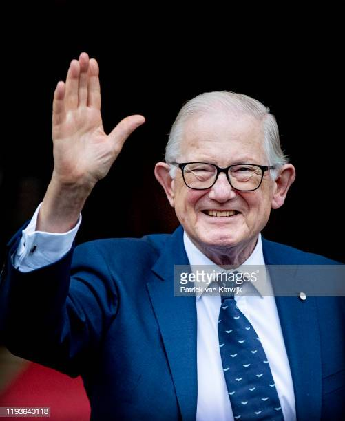 Pieter van Vollenhoven of The Netherlands attend the New Year Reception in the Royal Palace on January 14 2020 in Amsterdam Netherlands