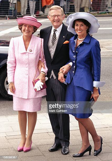 Pieter Van Vollenhoven Princess Margriet Josee Van Den Broek Attend The Wedding Ceremony Of Prince Maurits Of Holland Marilene Van Ver Broek In...