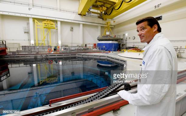 Pieter Wasmuth the general commissioner of Vattenfall GmbH inside the Brunsbuettel nuclear power station in Brunsbuettel Germany 22 August 2017 The...