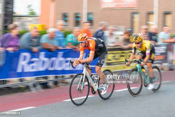 Pieter Weening of The Netherlands and Roompot - Charles Cycling Team and Dylan Groenewegen of The Netherlands and Team Jumbo-Visma during the 2019...