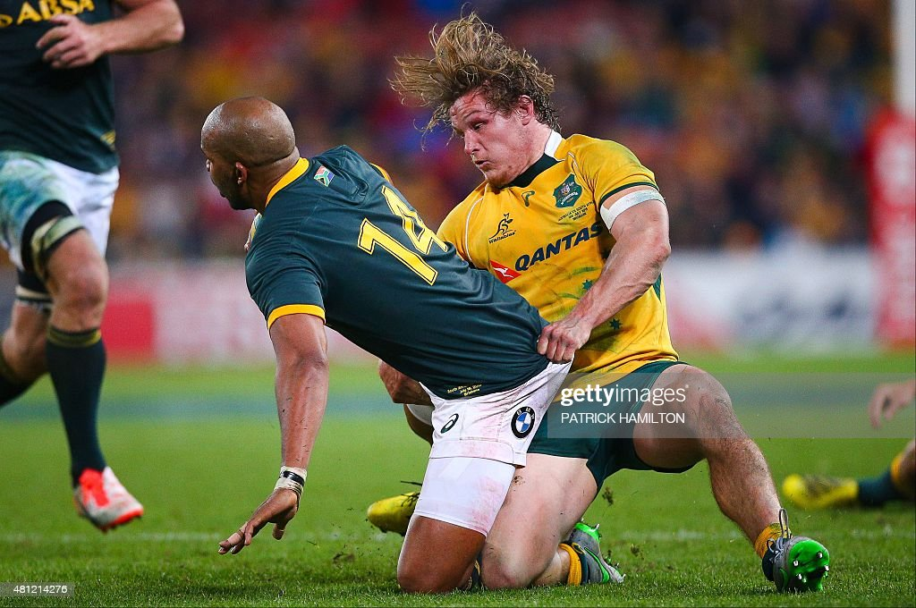 RUGBYU-RC-2015-AUS-RSA : News Photo