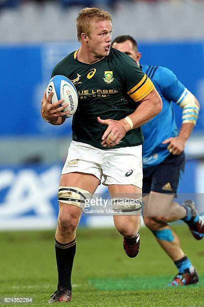 PieterSteph du Toit of South Africa in action during the international match between Italy v South Africa at Stadio Olimpico on November 19 2016 in...