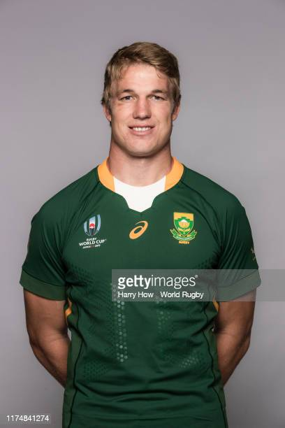 PieterSteph Du Toit of South Africa poses for a portrait during the South Africa Rugby World Cup 2019 squad photo call on September 15 2019 in Tokyo...
