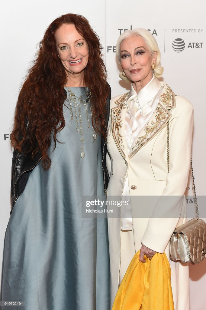 Pietra Brettkelly and Carmen Dell'Orefice attend a screening of 'Yellow Is Forbidden' during the 2018 Tribeca Film Festival at Cinepolis Chelsea on April 21, 2018 in New York City.
