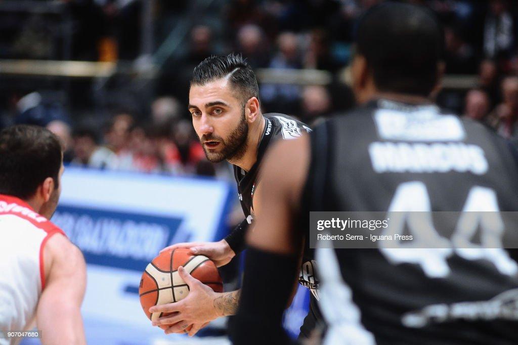 Pietro Aradori of Segafredo in action during the LBA LegaBasket of Serie A match between Virtus Segafredo Bologna and Grissin Bon Reggio Emilia at PalaDozza on January 13, 2018 in Bologna, Italy.