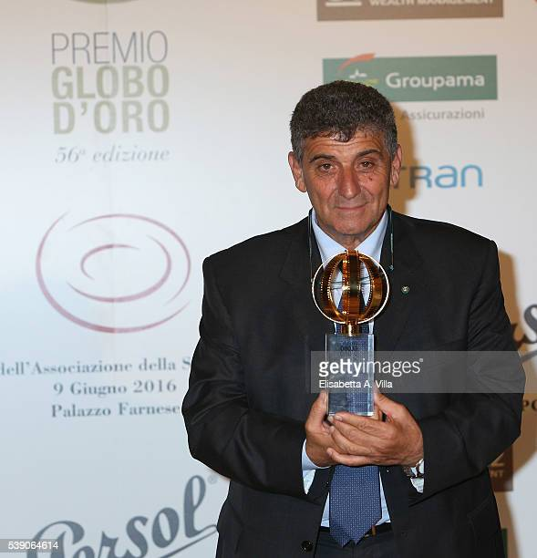 Pietro Bartolo attends Globi D'Oro 2016 Awards Ceremony at French Embassy Palazzo Farnese on June 9 2016 in Rome Italy