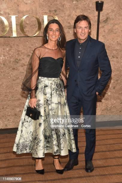Pietro Beccari and Elisabetta Beccari attend the Christian Dior Couture S/S20 Cruise Collection on April 29 2019 in Marrakech Morocco