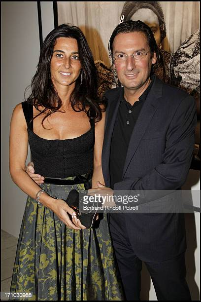 Pietro Beccari and his wife Elisabeta at Every Journey Began In Africa Party For The Exhibition Africa Rising And The Discovery Of The Collaboration...