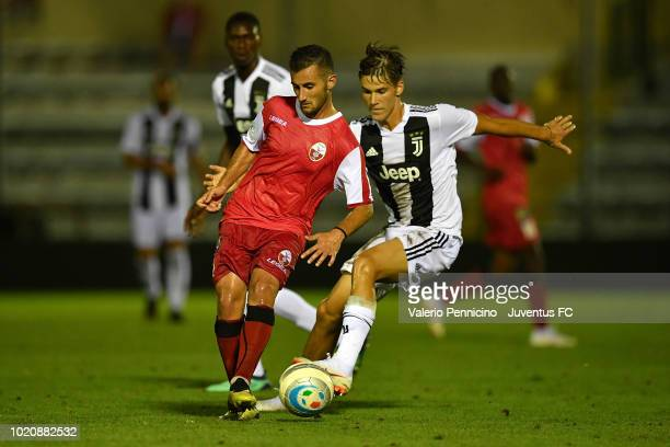 Pietro Beruatto of Juventus U23 competes during the Coppa Italia Serie C match between Juventus U23 and Cuneo at Moccagatta Stadium on August 21 2018...
