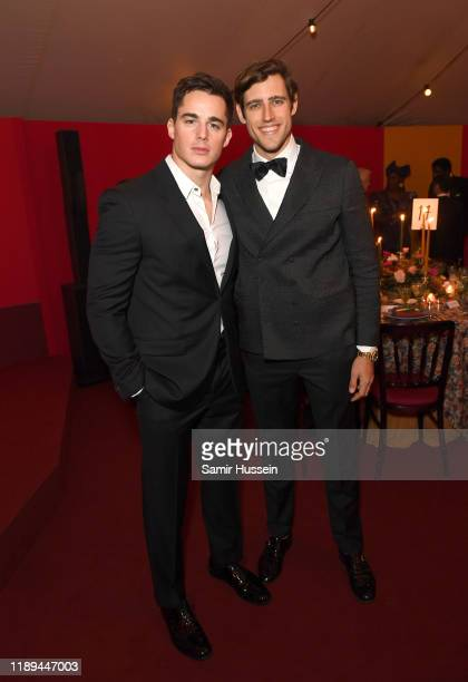 Pietro Boselli and Zac Stenmark attend the gala dinner in honour of Edward Enninful winner of the Global VOICES Award 2019 during #BoFVOICES on...