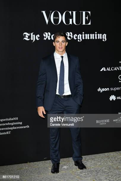 Pietro Boselli attends theVogue Italia 'The New Beginning' Party during Milan Fashion Week Spring/Summer 2018 on September 22 2017 in Milan Italy