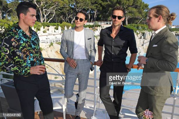 Pietro Boselli Luke Pasqualino Andrew Cooper and Charlie Settrington attend the Gentleman's Journal and Chopard Road To Cannes dinner during the 72nd...