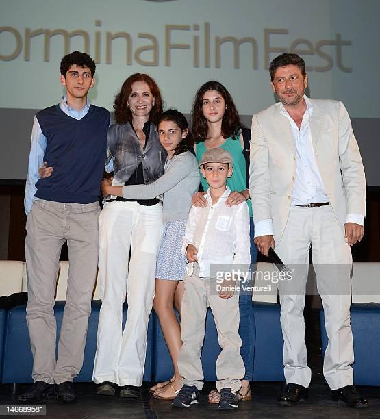 Pietro Castellitto, Margaret Mazzantini, Anna Castellitto, Maria Castellitto, Cesare Castellitto and Sergio Castellitto attend the 'Premio Cariddi...