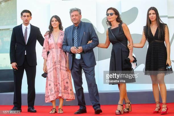 "Pietro Castellitto, Maria Castellitto, Sergio Castellitto, Margaret Mazzantini and Anna Castellitto walk the red carpet ahead of the movie ""I..."