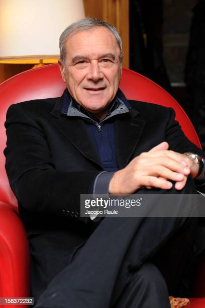 Pietro Grasso attends the 22th Courmayeur Noir In Festival on December 14 2012 in Courmayeur Italy