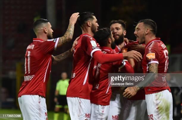 Pietro Iemmello of AC Perugia celebrates after scoring opening goal during the Serie B match between AC Perugia and Pisa SC at Stadio Renato Curi on...