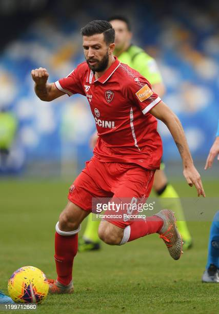 Pietro Iemmello of Perugia during the Coppa Italia match between SSC Napoli and Perugia on January 14, 2020 in Naples, Italy.