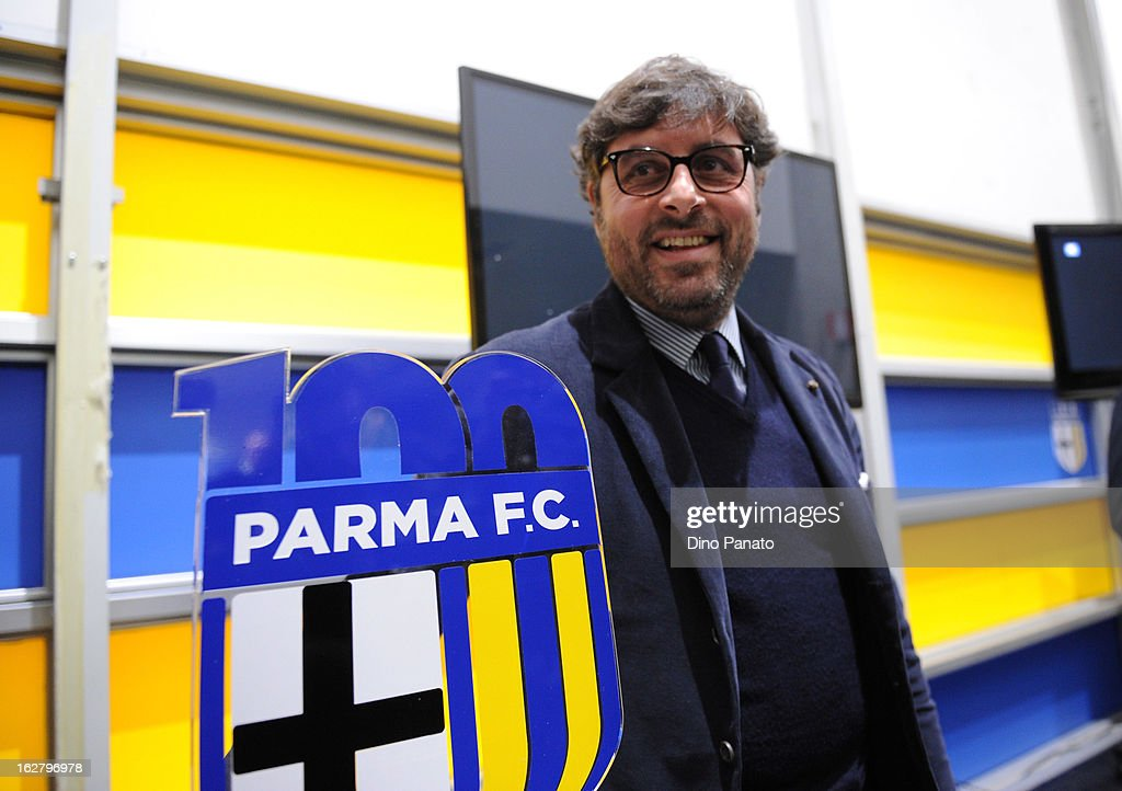 Pietro Leonardi general manager of Parma FC attends an event to unveil the FC Parma centenary logo at Stadio Ennio Tardini on February 27, 2013 in Parma, Italy.