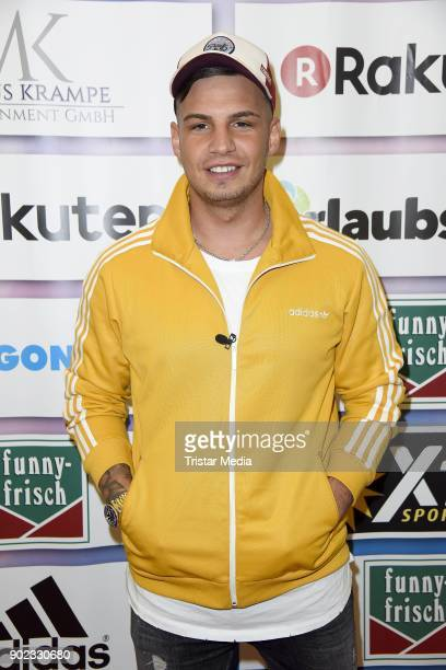 Pietro Lombardi attends the Schauinsland Reisen Cup 2018 at Schwalbe Arena on January 7 2018 in Gummersbach Germany