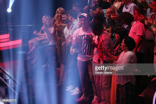 Pietro Lombardi Heinrich Popow and Kathrin Menzinger during the 10th show of the tenth season of the television competition 'Let's Dance' on May 26...