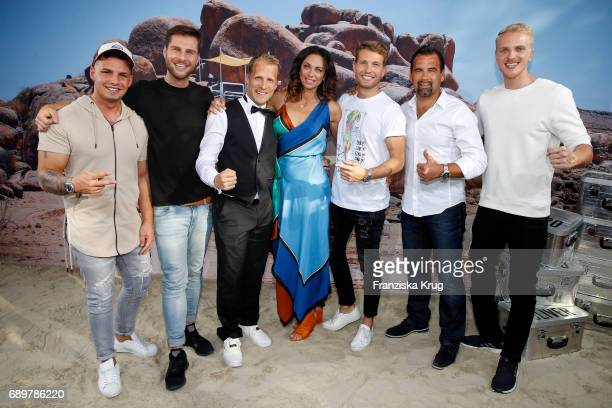 Pietro Lombardi Maurice Gajda Oliver Pocher Lilly Becker Raul Richter Ulf Kirsten and Mario Galla attend the 'Global Gladiators' exclusive preview in...
