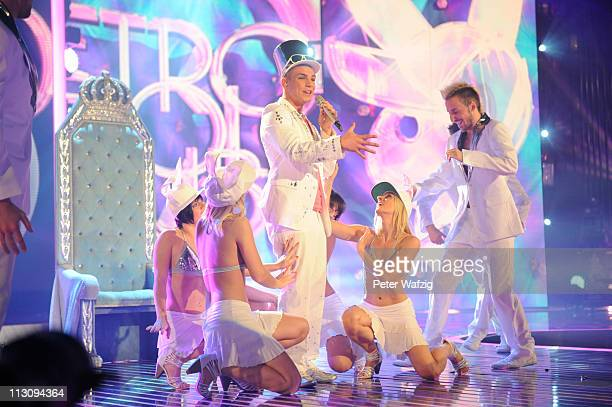 Pietro Lombardi performs his first song during the 'Deutschland Sucht Den Superstar' TV Show on April 23 2011 in Cologne Germany