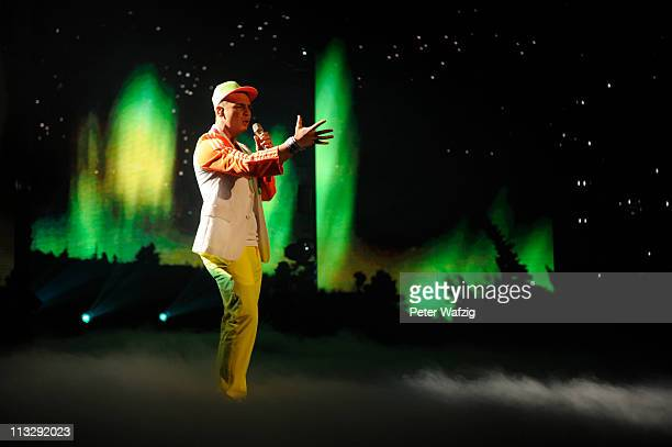 Pietro Lombardi performs his first song during the 'Deutschland Sucht Den Superstar' TV Show on April 30 2011 in Cologne Germany