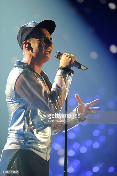 Pietro Lombardi performs his second song during the 'Deutschland Sucht Den Superstar' TV Show on April 30 2011 in Cologne Germany