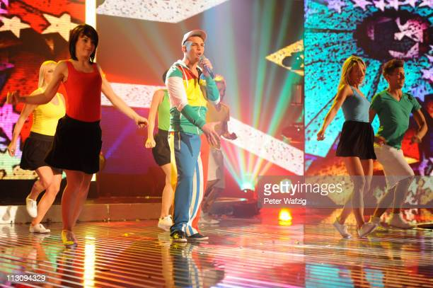 Pietro Lombardi performs his third song during the 'Deutschland Sucht Den Superstar' TV Show on April 23 2011 in Cologne Germany