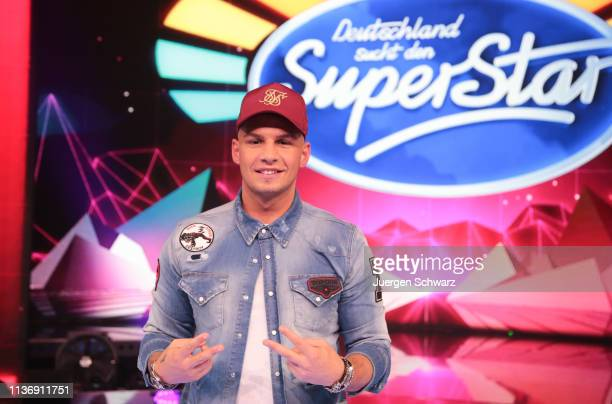 Pietro Lombardi poses during the second event show of the tv competition Deutschland sucht den Superstar at Coloneum on April 13 2019 in Cologne...