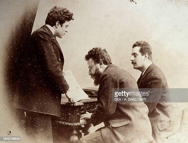 Pietro Mascagni Alberto Franchetti and Giacomo Puccini Leghorn Museo Mascagni