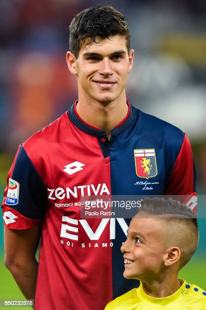 Pietro Pellegri of Genoa before the Serie A match between Genoa CFC and AC Chievo Verona at Stadio Luigi Ferraris on September 20 2017 in Genoa Italy