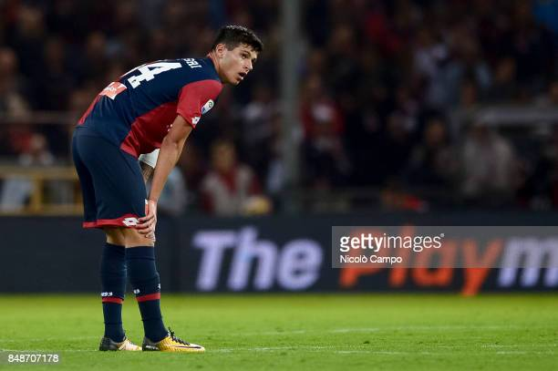 Pietro Pellegri of Genoa CFC looks on during the Serie A football match between Genoa CFC and SS Lazio SS Lazio wins 32 over CFC Genoa