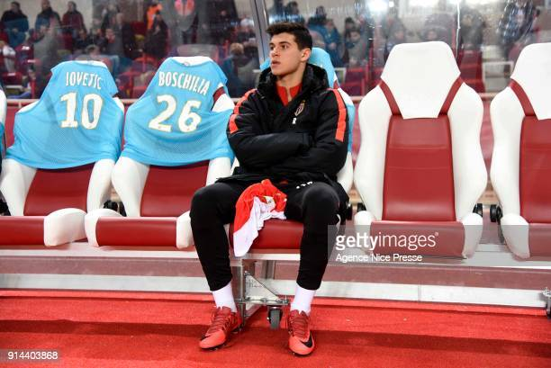 Pietro Pellegri of Monaco during the Ligue 1 match between AS Monaco and Lyon at Stade Louis II on February 4 2018 in Monaco