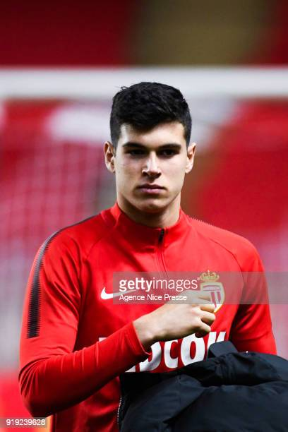 Pietro Pellegri of Monaco during the Ligue 1 match between AS Monaco and Dijon FCO at Stade Louis II on February 16 2018 in Monaco