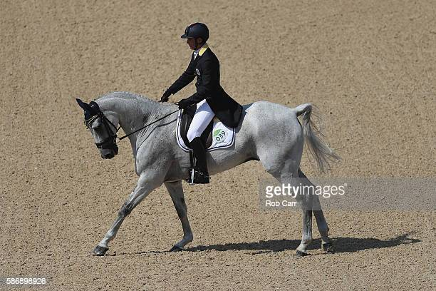 Pietro Roman of Italy riding Barraduff competes in the Eventing Team Dressage event during equestrian on Day 2 of the Rio 2016 Olympic Games at the...