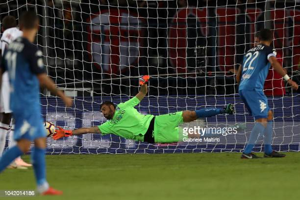 Pietro Terraciano of Empoli FC in action during the serie A match between Empoli and AC Milan at Stadio Carlo Castellani on September 27 2018 in...
