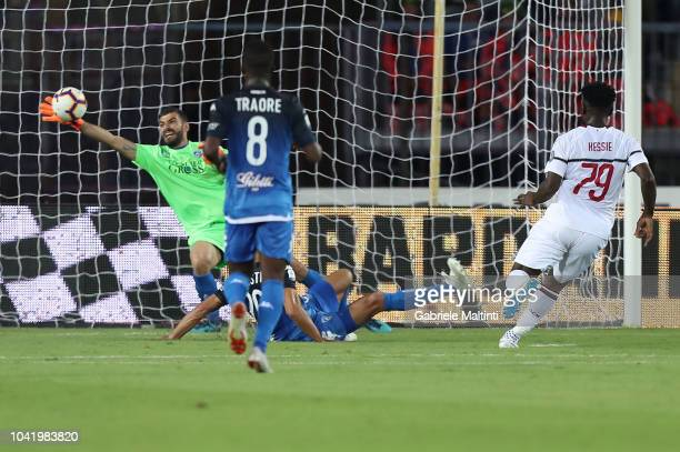 Pietro Terraciano of Empoli in action during the serie A match between Empoli and AC Milan at Stadio Carlo Castellani on September 27 2018 in Empoli...