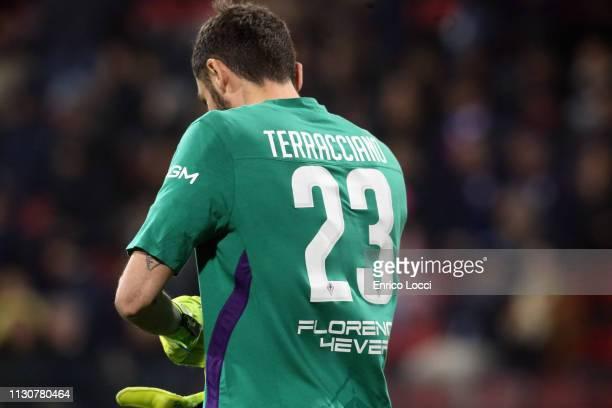 Pietro Terraciano of Fiorentina in action during the Serie A match between Cagliari and ACF Fiorentina at Sardegna Arena on March 15 2019 in Cagliari...
