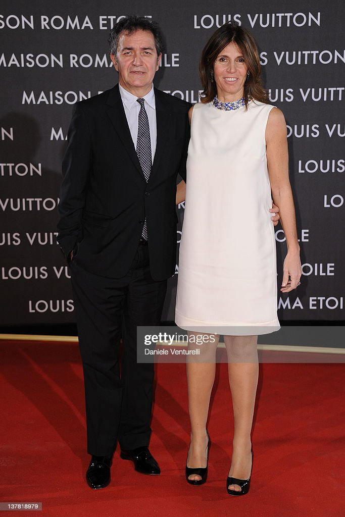 Pietro Valsecchi and Camilla Nesbitt attend the 'Maison Louis Vuitton Roma Etoile' Opening Party on January 27, 2012 in Rome, Italy.