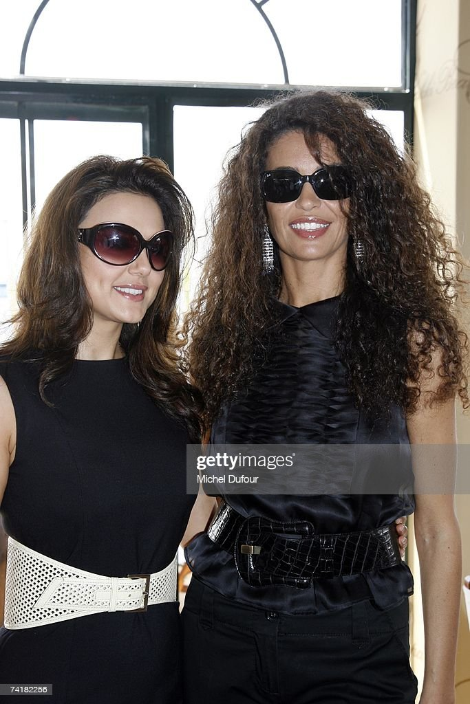 Pietry Zinta and Afef Jnifen attends the lunch at Nikki Beach hosted by Chopard and Stiletto Magazine on May 17 2007 in Cannes France