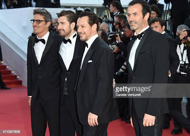 Pif Alessandro Siani Stefano Accorsi and Andrea Occhipinti attend the 'Little Prince' Premiere during the 68th annual Cannes Film Festival on May 22...