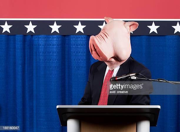 Tête de cochon Homme politique