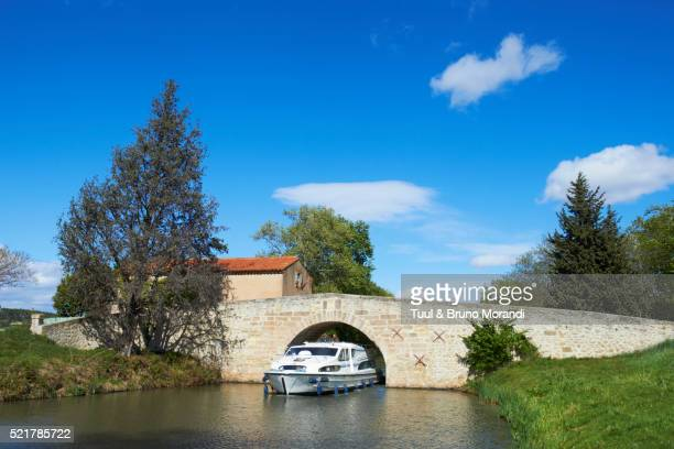 Pigasse bridge on Canal du Midi, Aude, Languedoc-Roussillon, France