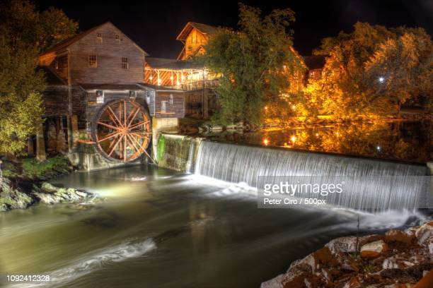 pigeon forge old mill - pigeon forge stock pictures, royalty-free photos & images