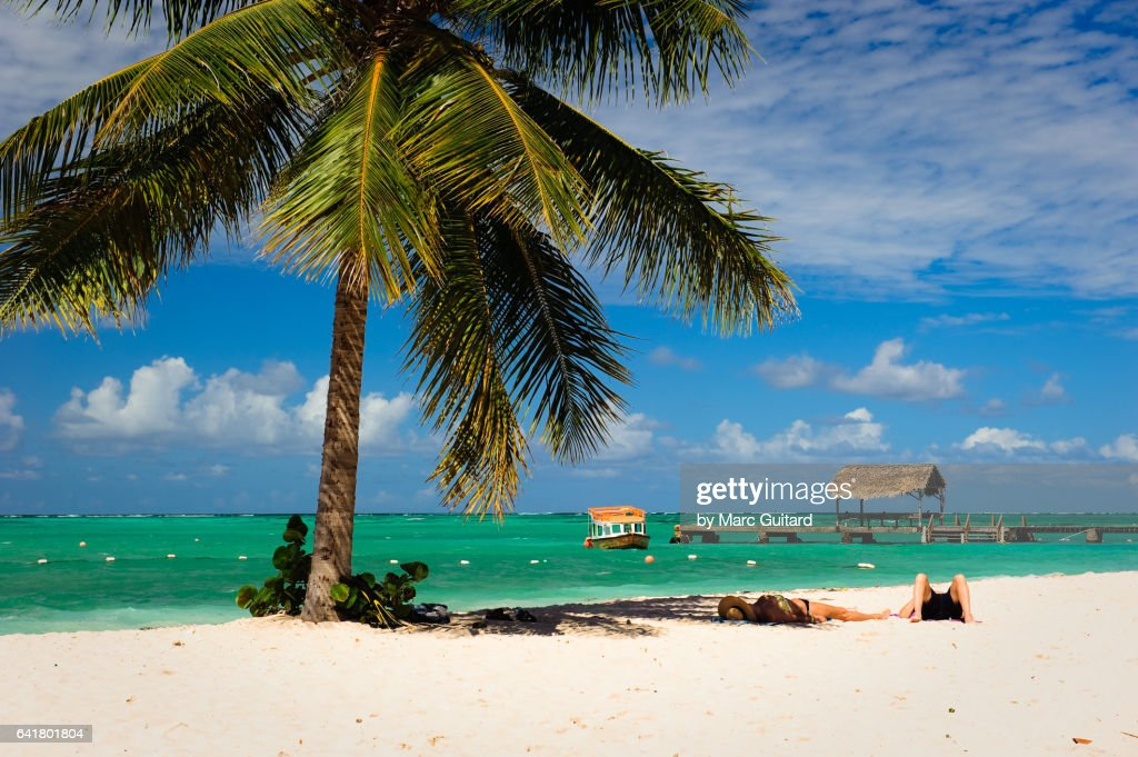 Pigeon Point Beach, Tobago, Trinidad & Tobago : Stock Photo